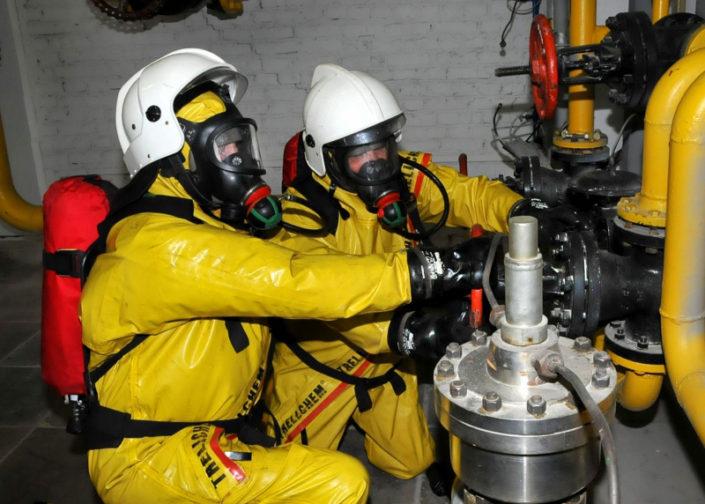 Газоспасатели в работе